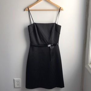 NWT Laundry Shelli Segal black satin petite dress